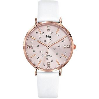 Watch Go Girl Only 699935 - Steel Box Dor Pink Leather Bracelet White Leather Women