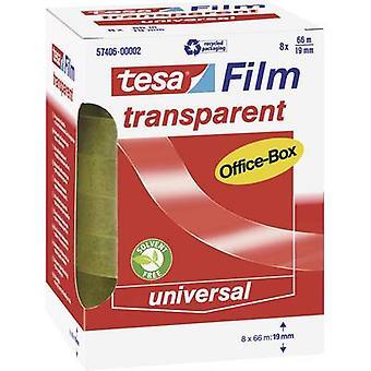 tesa 57406-00002-00 Tesa film tesafilm® Transparent (L x W) 66 m x 19 mm 8 stk(er)