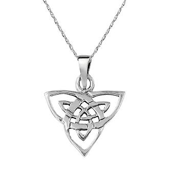 Celtic Eternity Holy Trinity Knot Necklace Pendant - Includes A 16