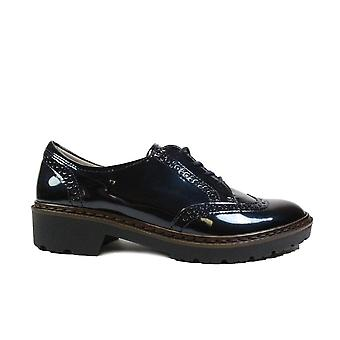 Ara Portland 60006-16 Navy Patent Leather Womens Lace Up Brogue Shoes