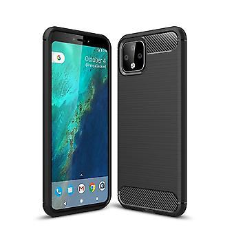 Google pixel 4 TPU Case Carbon Fiber Optics geborsteld beschermende case zwart