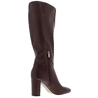 Marc Fisher Womens Zimra Leather Round Toe Dress Boots Brown 8.5 Medium (B,M)