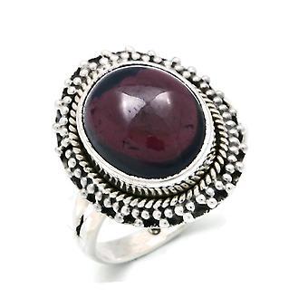 Ring Silber 925 Sterlingsilber Granat rot Stein (Nr: MRI 118)