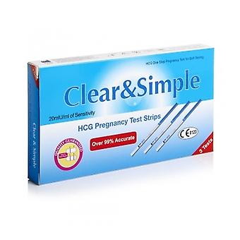 Clear & Simple Pregnancy Test Strips 3 Strips