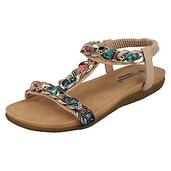 Ladies Savannah flätad kedja sandaler F00063