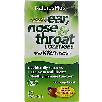Adult's Ear - Nose & Throat Lozenges - Natural Tropical Cherry Berry (60 Lozenges ) - Nature's Plus