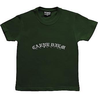 Carpe Diem Racing Green Kids' T-Shirt