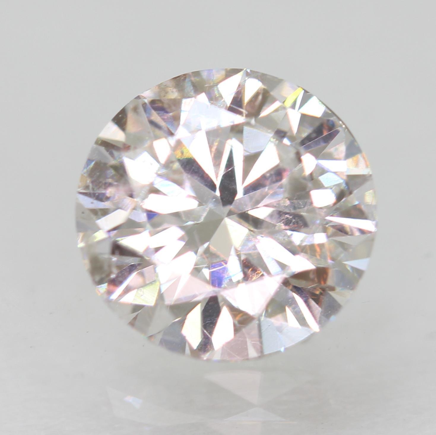 Certified 1.02 Carat G VS1 Round Brilliant Enhanced Natural Loose Diamond 6.51mm