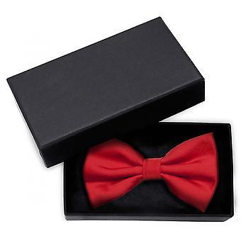 Bow tie red solid color fine structure bow Fabio Farini uni gloss cross binder