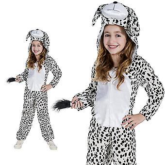 Dalmatische hond Bow Wow Doggie zwart wit kind kostuum ééndelig dog kostuum