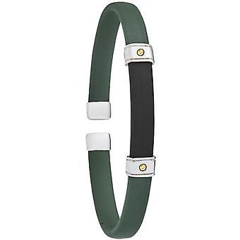 Jourdan jewelry FZ401VE - Sumatra green man rubber wristband bracelet