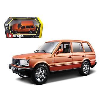 Land Rover Range Rover Orange 1/24 Diecast Car Model par Bburago