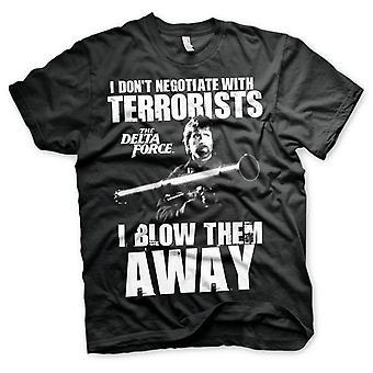 Delta Force Chuck Norris förhandlar officiell T-shirt