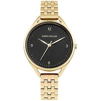 Karen Millen KM130BGM - watch round gold woman