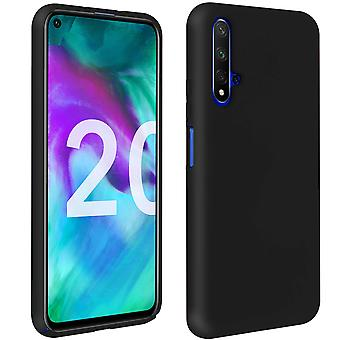 Honor 20 / Huawei Nova 5T Silicone Semi-rigid Case Soft Touch Matte Finish Black