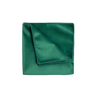 Dobell Mens Racing Green Velvet Handkerchief
