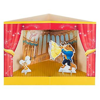 Hallmark Beauty And The Beast 3d Princess Stage Pop-up Birthday Card 25482543