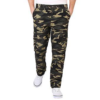 KRISP Mens combat militaire armée camouflage Cargo pantalon Pantalon décontracté travail mode