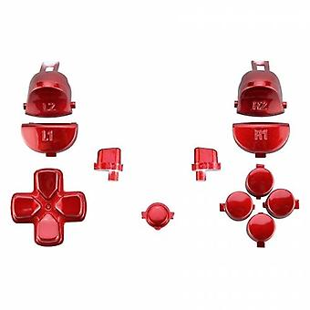 Button set for ps4 pro controllers sony jdm-040 mod set trigger, action, d-pad & option / share button set - chrome red | zedlabz