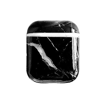 Protective case for AirPods - Black Marble