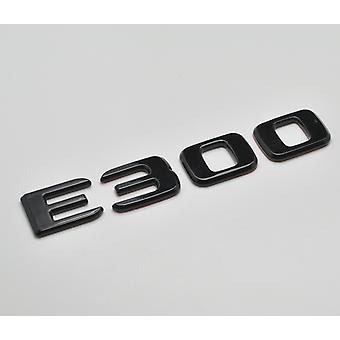 Gloss Black E300 Flat Mercedes Benz Car Model Rear Boot Number Letter Sticker Decal Badge Emblem For E Class W210 W211 W212 C207/A207 W213 AMG