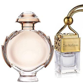Paco Rabanne Olympea For Hendes Inspireret Fragrance 8ml Gold Lid Bottle Hængende Bil Auto Air Freshener