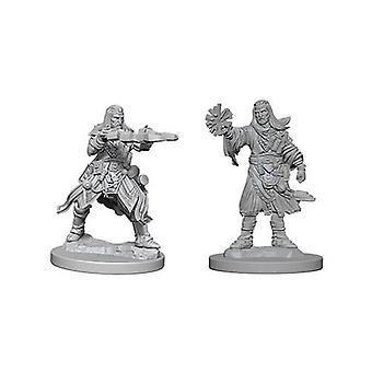 Pathfinder Bitvy Hluboké řezy Nenatřené Miniatury Muž Lidský čaroděj (Balení 6)