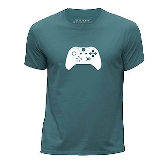 STUFF4 Chłopca okrągły dekolt T-shirty-Shirt/Gaming/gracza Xbox jeden kontroler/Ocean zielony
