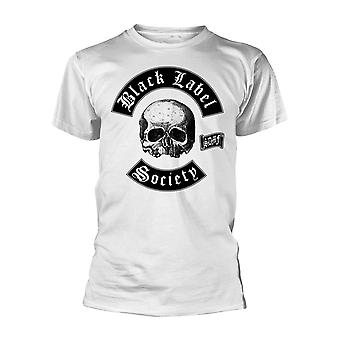 Black Label Society White Skull Logo Officiel Tee T-Shirt Mens Unisex