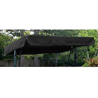 Gardenista® tenda di ricambio nera per sedile girevole a 3 posti