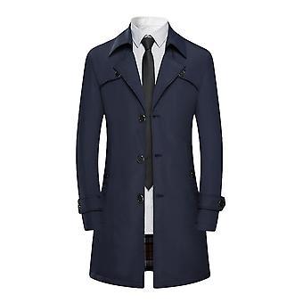 Allthemen Men's Double Rinnakkaisryhmitelmällä Trenssi Solid Casual Outwear Takki