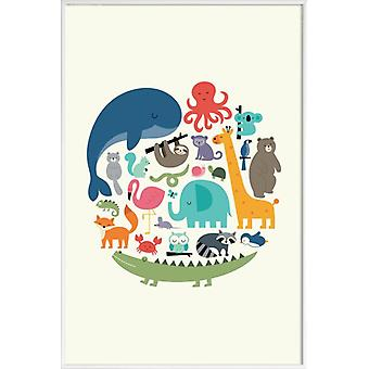JUNIQE Print -  We Are One - Wildtiere Poster in Bunt