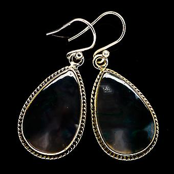 Green Moss Agate Boucles d'oreilles 1 1/2-quot; (925 Sterling Silver) - Handmade Boho Vintage Jewelry EARR397916