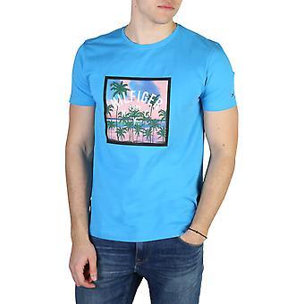Tommy Hilfiger Original Men Printemps/Été T-shirt - Blue Color 49181