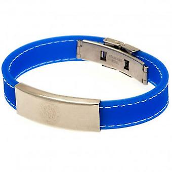 Leicester City Stitched Silicone Bracelet BL
