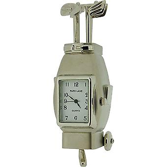 Park Lane Adorable Mini Golf Bag Collectors Novelty Clock PLCLK139