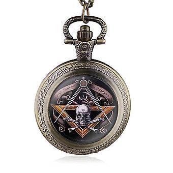 All-seeing eye skull & bones masonic watch