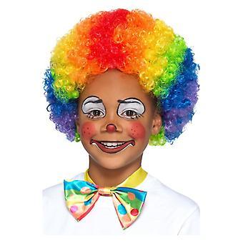 Childrens Rainbow Clown Wig Fancy Dress Accessory