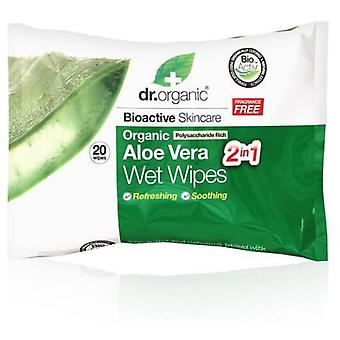 Dr. Organic Wet Wipes Aloe Vera 20 units