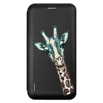 Case For Samsung Galaxy A71 Black Giraffe Head Pattern