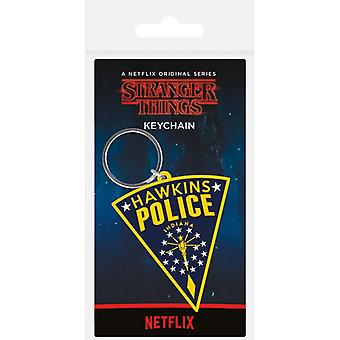 Stranger Things Hawkins Politie Patch Rubber Sleutelhanger