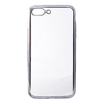 Mobiele cover Iphone 7 Plus/8 Plus Contact Flex Metal TPU Transparant Grijs Metallic