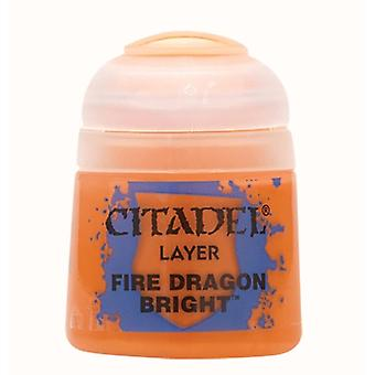 Fire Dragon Bright, Citadel Paint - Layer, Warhammer 40,000/Age of Sigmar