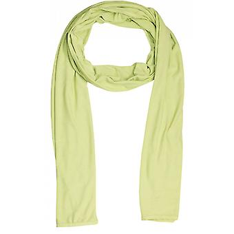 A Postcard from Brighton Plain Leaf Green Jersey Scarf