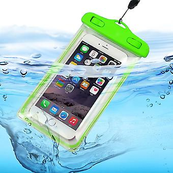 Motorola Moto E6 (Green) Waterproof Touchscreen Dry Bag Phone Case Cover Protection