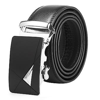 Allthemen Men's Belt Genuine Leather Ratchet Belt with Automatic Buckle For Men Casual Fashion,Trim to Fit
