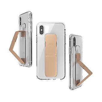 Affaire Clckr Gripcase iPhone XS / X - Transparent/Or