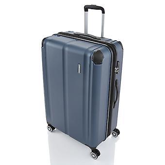 travelite City Trolley L, 4 Rollen, 77 cm, 113  L, Blau