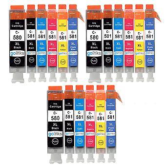 3 Ensemble de 6 cartouches d'encre pour remplacer Canon IGI-580 & CLI-581 Compatible/non-OEM de Go Inks (18 Encres)