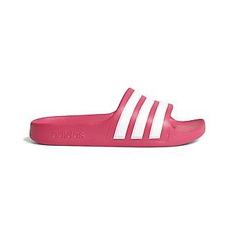 adidas Adilette Aqua Junior Kids Ragazze Flip Flop Sandal Slide Rosa/Bianco